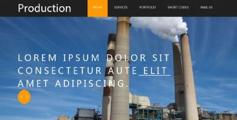 工业生产建设网页模板-深圳网站建设SEO服务华科网络